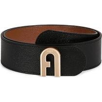 FURLA FURLA 1927 Bi-color Leather Elegant Style Logo Belts