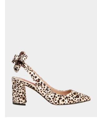 Leopard Patterns Casual Style Block Heels Party Style