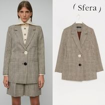 Sfera Other Check Patterns Medium Elegant Style Jackets