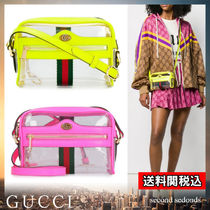 GUCCI Stripes Casual Style Blended Fabrics Street Style Plain
