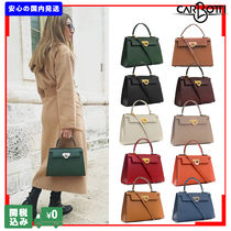 CARBOTTI Casual Style 2WAY Plain Leather Handmade Office Style