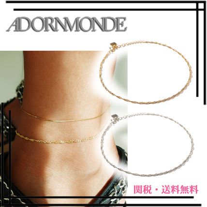 Chain Silver Elegant Style Anklets