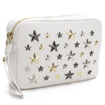 Jimmy Choo Star Studded Leather Pouches & Cosmetic Bags