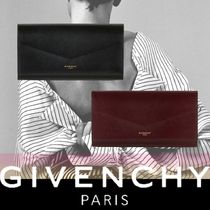 GIVENCHY Lambskin Blended Fabrics Plain Leather Long Wallets