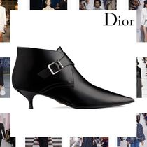 Christian Dior Plain Leather Elegant Style Ankle & Booties Boots