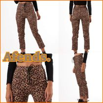 AFENDS Leopard Patterns Casual Style Cotton Long Skinny Pants