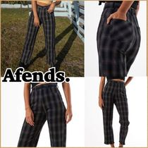AFENDS Other Check Patterns Casual Style Long Pants