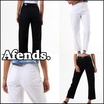 AFENDS Casual Style Plain Cotton Long Skinny Pants