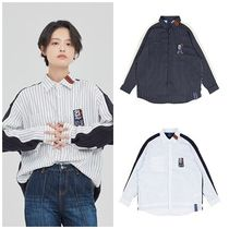ROMANTIC CROWN Casual Style Unisex Street Style Long Sleeves Oversized