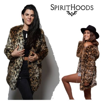 Leopard Patterns Casual Style Coats
