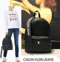 Calvin Klein CALVIN KLEIN JEANS Casual Style Faux Fur Street Style Plain Backpacks
