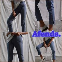 AFENDS Stripes Casual Style Plain Cotton Long Skinny Pants