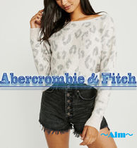 Abercrombie & Fitch Cable Knit Casual Style Dolman Sleeves Plain Knitwear