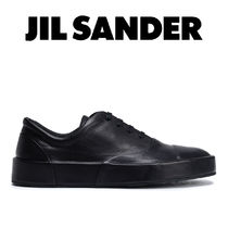 Jil Sander Plain Leather Low-Top Sneakers