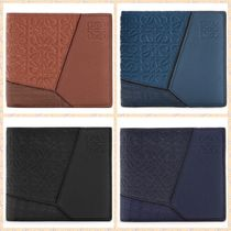 LOEWE PUZZLE Bi-color Leather Folding Wallets