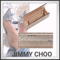 Jimmy Choo Chain Party Style Elegant Style Clutches