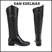 Sam Edelman Casual Style Blended Fabrics Plain Leather Boots Boots