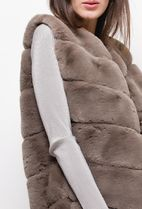 Casual Style Faux Fur Street Style Plain Medium Party Style