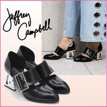 Jeffrey Campbell Casual Style Blended Fabrics Plain Leather Block Heels