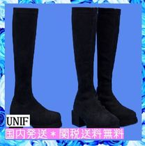 UNIF Clothing Platform Plain Toe Casual Style Suede Street Style Plain