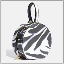 SKINNYDIP Zebra Patterns Casual Style Faux Fur Vanity Bags 2WAY Chain
