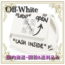 Off-White Casual Style Calfskin Shoulder Bags