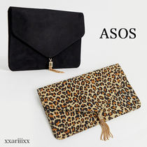 ASOS Leopard Patterns Casual Style Suede Blended Fabrics Tassel