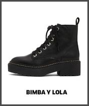 bimba & lola Round Toe Rubber Sole Plain Leather Ankle & Booties Boots