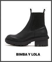 bimba & lola Rubber Sole Plain Leather Ankle & Booties Boots