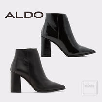 ALDO Plain Leather Elegant Style Ankle & Booties Boots