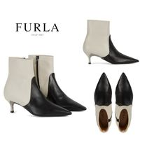 FURLA FURLA 1927 Rubber Sole Casual Style Bi-color Leather Boots Boots