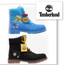 Timberland Unisex Street Style Collaboration Leather Boots