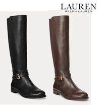 Ralph Lauren Leather Mid Heel Boots