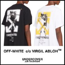 Off-White Crew Neck Street Style Collaboration Cotton Short Sleeves