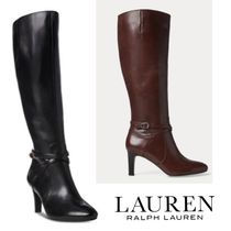 Ralph Lauren Leather High Heel Boots