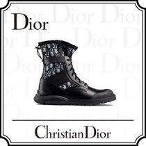 Christian Dior Blended Fabrics Leather Engineer Boots