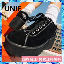 UNIF Clothing Round Toe Casual Style Street Style Plain Low-Top Sneakers