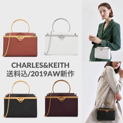 Charles&Keith Faux Fur 2WAY Plain Party Style Elegant Style Crossbody