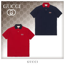 GUCCI Cotton Short Sleeves Polos