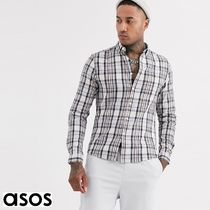 ASOS Button-down Other Plaid Patterns Street Style Bi-color