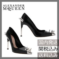 alexander mcqueen Studded Plain Leather Party Style High Heel Pumps & Mules