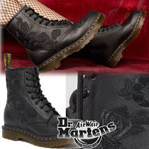 Dr Martens 1460 Flower Patterns Lace-up Casual Style Unisex Street Style