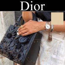 Christian Dior LADY DIOR Tropical Patterns Casual Style Calfskin Street Style 2WAY