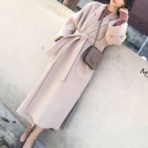 Plain Long Wrap Coats