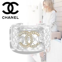 CHANEL Bangles Costume Jewelry With Jewels Elegant Style Bracelets