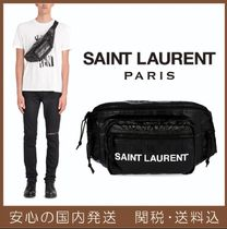 Saint Laurent Unisex Nylon Plain Hip Packs