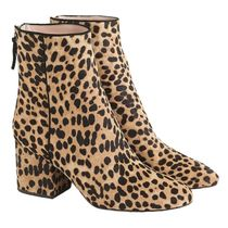 J Crew Leopard Patterns Casual Style Party Style Chunky Heels