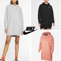Nike Casual Style Street Style Long Sleeves Cotton Dresses