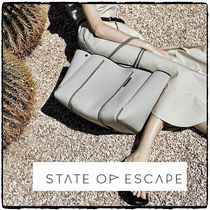 State of Escape Casual Style Unisex A4 Plain Office Style Totes