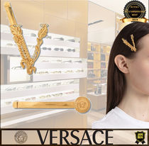 VERSACE Barettes Casual Style Party Style Elegant Style Clips